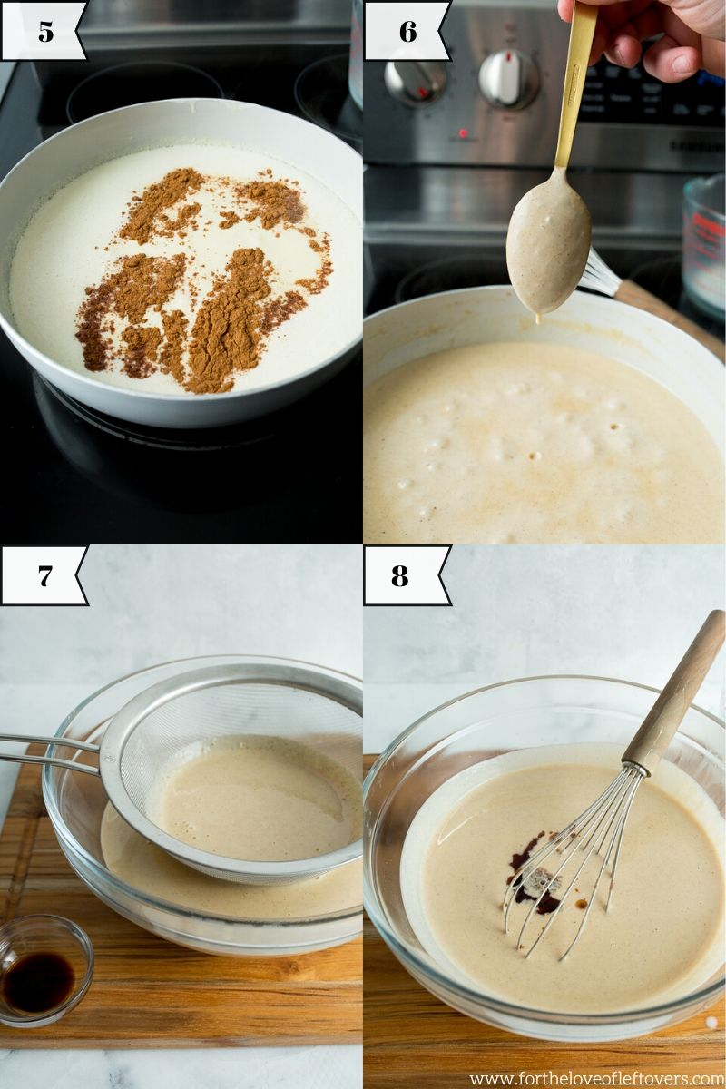 Step by step images for making baklava ice cream